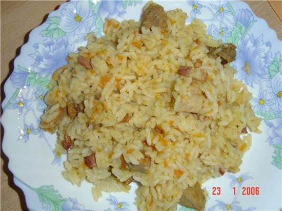 салатик из китайской капусты и пловик - 2