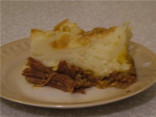А у меня картофельное суфле с мяском