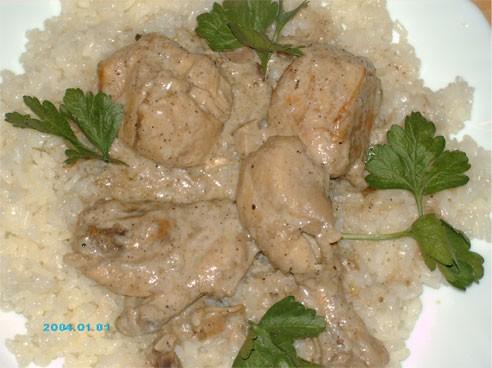 """Сегодня на обед я приготовила очередное арабское блюдо - """"Жаж би лабан"""" - Курица в кефире(йогурте)"""
