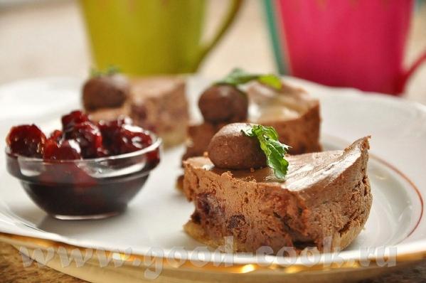 Шоколадный чизкейк с вишней - 2