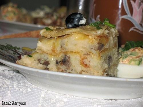 """Салат """"Птичье гнездо"""" Закусочный торт Королевская закуска """"Цветок"""" Салат """"Браслет с самоцветами"""" """"Н... - 5"""