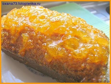 Кекс с апельсиновым джемом и маком