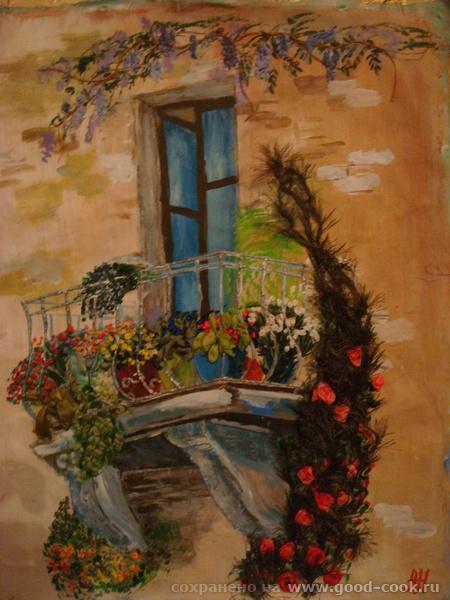 балкон с вышивкой