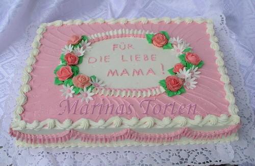 А вот тортик для моей мамы