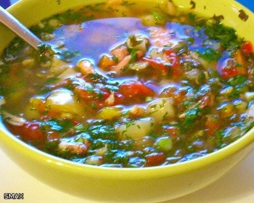 Густой овощной суп с цыпленком Состав: пол цыпленка; 2л воды; шампиньоны 3 шт - 2