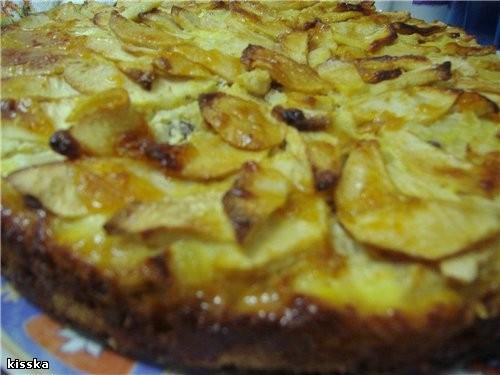 Продолжим яблочную тему яблочно-рисовый пирог песочное тесто 250г