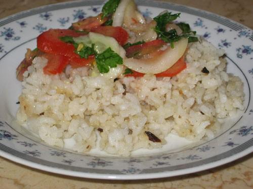 Грибной рис