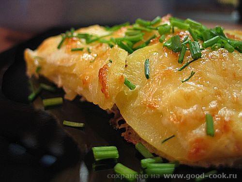"""Картофель """"Дофин"""", запеченный под сыром Рецепт здесь Всем приятного аппетита - 2"""