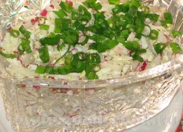 Салат из редиски и яйца Салат из шампиньонов с редькой от Lepi
