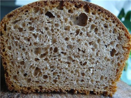 Я теперь уже несколько раз делала ржаной цельнозерновой хлеб на бездрожжевой закваске и каждый раз...