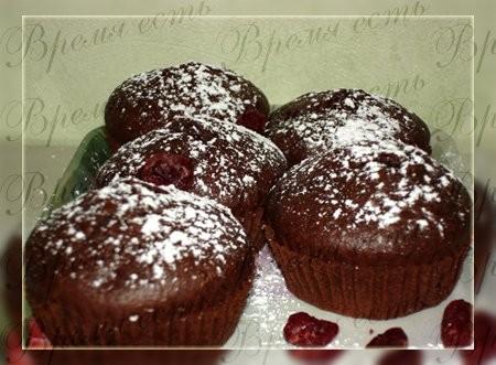 Шоколадные кексы с сушеной вишней 100 гр сл