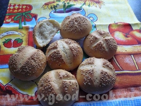 Кунжутные булочки - Sesambrцtchen 500 г белой муки 30 г дрожжей (я: 1 пакетик сухих) 1 ч
