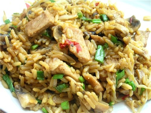 Кантонский рис Рис с тигровыми креветками, овощами и изюмом Рис со свининой по-тайски Плов с овощам... - 3