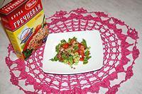 салат из помидоров с гречкой