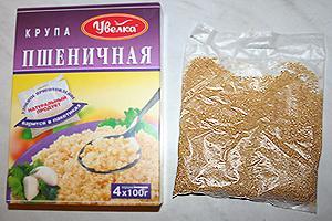 пшеничная каша с жареным луком и беконом