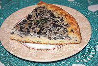 пирог с грибами и гречневой крупкой