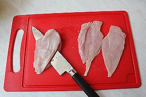 жареная курица с горчицей, в панировке