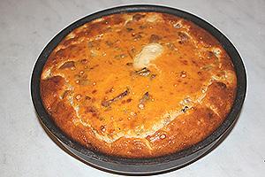 пирог с ветчиной и пикантной заливкой