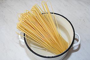 спагетти с копчёным лососем